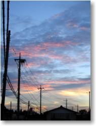 2004年8月3日の夕焼け